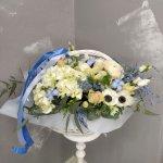 """Спасибо магазину """"Ваш цветочный"""". Корзина была доставлена во время, цветы были свежие, именинница  была приятна удивлена"""