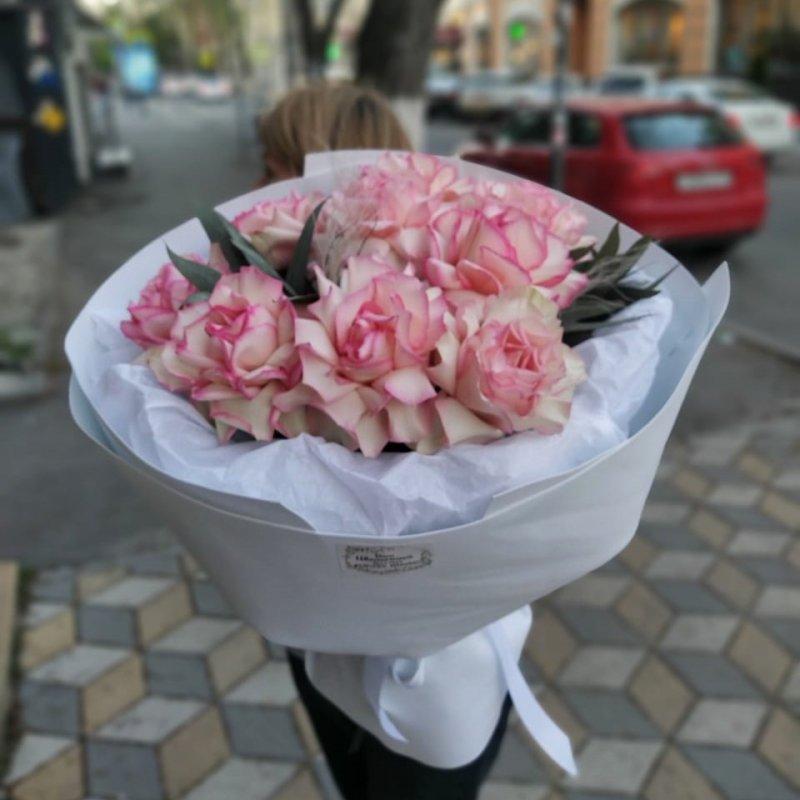 Большой букет французской розы (Эсперанса)