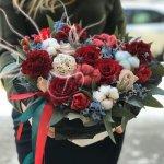 Креативное букеты из свежайшие цветов, присылают фото, можно заказать доставку. Любые фантазии реализуют в мой цветочный.