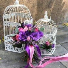 """Букет невесты из эустомы """"Фиолетовый"""""""