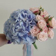 """Букет невесты с гортензией """"Голубое небо"""""""